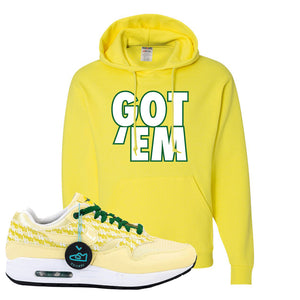 Air Max 1 PRM Lemonade Hoodie | Got Em, Neon Yellow