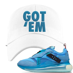 Air Max 720 OBJ Slip Light Blue Dad Hat | White, Got Em