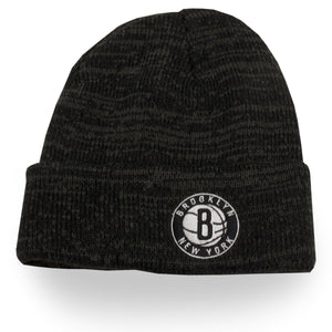 Brooklyn Nets Brain Freeze Thick Knit Cuff Heather Black Winter Beanie