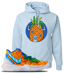 Kyrie 5 Pineapple House Pineapple House Light Blue Sneaker Hook Up Pullover Hoodie