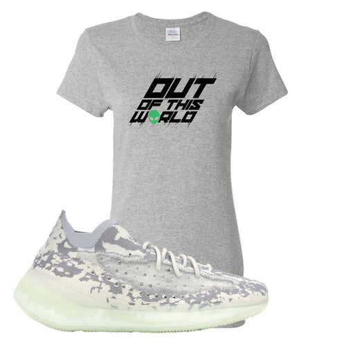 Yeezy Boost 380 Alien Outta This World Sport Gray Sneaker Matching Women's T-Shirt