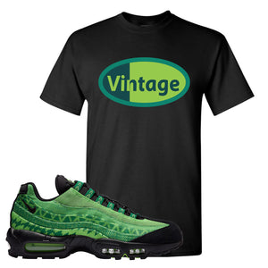 Air Max 95 Naija T Shirt | Vintage Oval, Black
