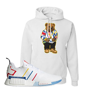 NMD R1 Olympic Pack Hoodie | White, Sweater Bear