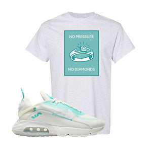 Air Max 2090 Pristine Green T Shirt | Ash, No Pressure No Diamond