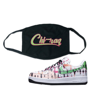 Air Force 1 Low Multi-Colored Tie-Dye Face Mask | Black, Chiraq