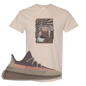 Yeezy 350 v2 Ash Stone T Shirt | Attack Of The Bear, Sand