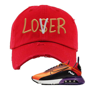 "Air Max 2090 ""Magma Orange"" Distressed Dad Hat 