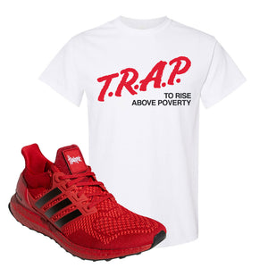 Ultra Boost 1.0 Nebraska T-Shirt | Trap To Rise Above Poverty, White