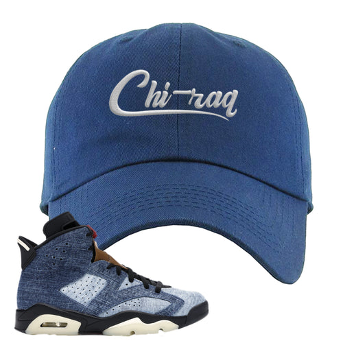 Air Jordan 6 Washed Denim Carp Pattern Navy Blue Sneaker Hook Up Dad Hat