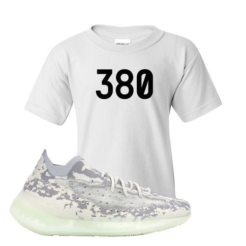 Yeezy Boost 380 Alien 380 White Sneaker Matching Kid's T-Shirt