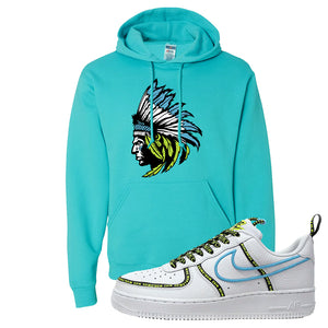 Air Force 1 '07 PRM 'Worldwide Pack' Hoodie | Scuba Blue, Indian Chief