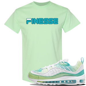 WMNS Air Max 98 Bubble Pack Sneaker Mint Green T Shirt | Tees to match Nike WMNS Air Max 98 Bubble Pack Shoes | Finesse