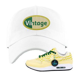 Air Max 1 PRM Lemonade Dad Hat | Vintage Oval, White
