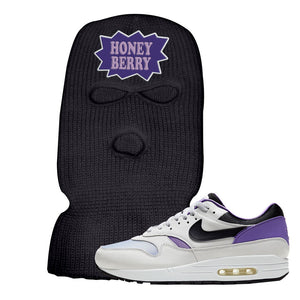 Air Max 1 DNA Series Sneaker Black Ski Mask | Winter Mask to match Nike Air Max 1 DNA Series Shoes | Honey Berry Package