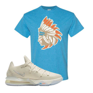 Lebron 17 Low Bone T Shirt | Heather Sapphire, Indian Chief