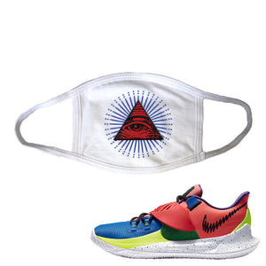Kyrie Low 3 NY vs NY Face Mask | All Seeing Eye, White