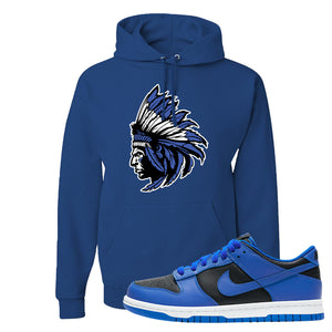 Dunk Low Hyper Cobalt Hoodie | Indian Chief, Royal