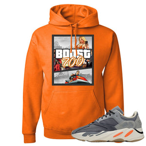 Yeezy Boost 700 Magnet GTA Cover Safety Orange Sneaker Matching Pullover Hoodie