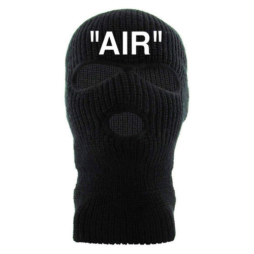 """Air"" Black Custom Embroidered 3 Hole Ski Mask"