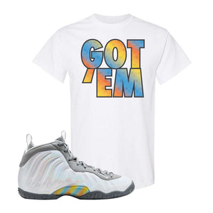Lil Posite One Rainbow Pixel T Shirt | White, Got Em