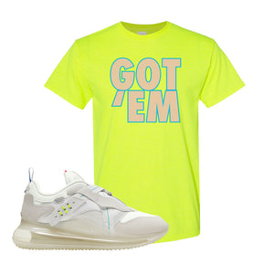 Air Max 720 OBJ Slip White T Shirt | Safety Green, Got Em