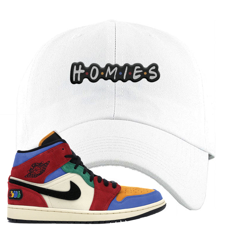 Jordan 1 X Blue The Great Dad Hat | White, Homies