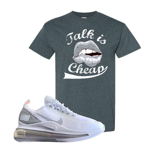 Air Max 720 Utility White T Shirt | Dark Heather, Talk is Cheap