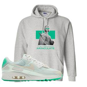 Air Max 90 Sail Pastel Green Hoodie | The Vibes Are Immaculate, Ash