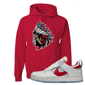 Dunk Low Disrupt Gym Red Hoodie | Indian Chief, Red