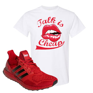 Ultra Boost 1.0 Nebraska T-Shirt | Talk Is Cheap, White