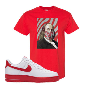 Air Force 1 Low Red Bottoms T Shirt | Red, Franklin Mask