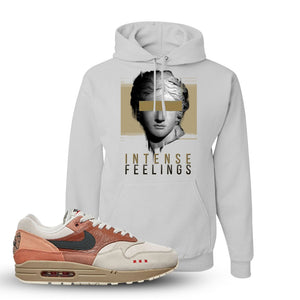 Air Max 1 Amsterdam City Pack Sneaker White Pullover Hoodie | Hoodie to match Nike Air Max 1 Amsterdam City Pack Shoes | Intense Feelings
