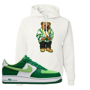 Air Force 1 Low St. Patrick's Day 2021 Hoodie | Sweater Bear, White