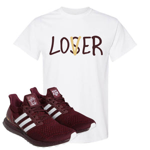 Ultra Boost 1.0 Texas A&M T Shirt | Lover, White