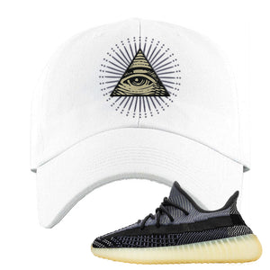 Yeezy Boost 350 V2 Asriel Carbon Dad Hat | All Seeing Eye, White