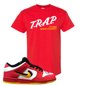 Nike Dunk Low Vietnam 25th Anniversary T-Shirt | Trap To Rise Above Poverty, Red