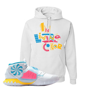 Kyrie 6 Blue Fury Hoodie | White, In Living Color