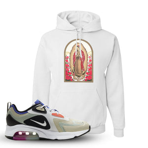 Air Max 200 WMNS Fossil Sneaker White Pullover Hoodie | Hoodie to match Nike Air Max 200 WMNS Fossil Shoes | Virgin Mary