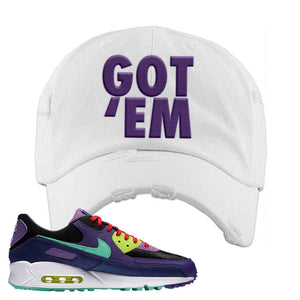 Air Max 90 Cheetah Distressed Dad Hat | Got Em, White