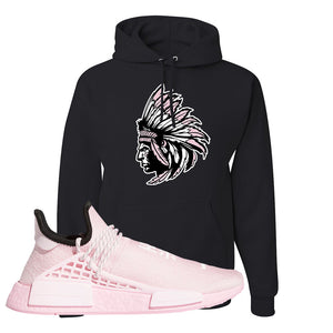 NMD Hu Tonal Pink Hoodie | Indian Chief, Black