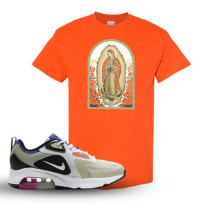 Air Max 200 WMNS Fossil Sneaker Orange T Shirt | Tees to match Nike Air Max 200 WMNS Fossil Shoes | Virgin Mary