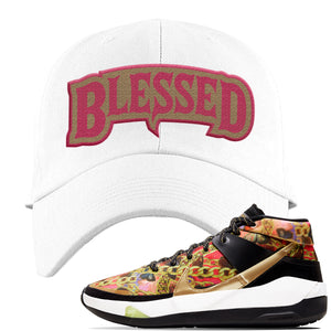 KD 13 Hype Dad Hat | White, Blessed Arch