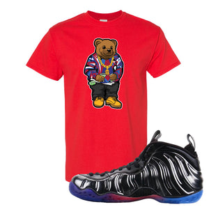 Air Foamposite One QS Gradient Soles T Shirt | Sweater Bear, Red