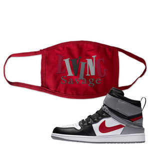 Air Jordan 1 Flyease Face Mask | Red, Living Savage