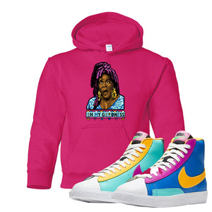 Blazer Mid Big Kids Hoodie | Heliconia, Oh My Goodness
