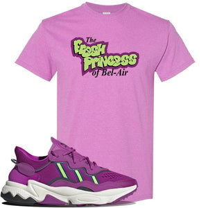 Ozweego Vivid Pink Sneaker Heather Radiant Orchid T Shirt | Tees to match Adidas Ozweego Vivid Pink Shoes | Fresh Princess of Bel Air