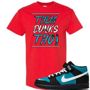 SB Dunk Mid 'Griffey' T Shirt | Red, Them Dunks Tho
