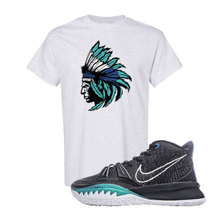 Kyrie 7 Pre Heat T-Shirt | Indian Chief, Ash