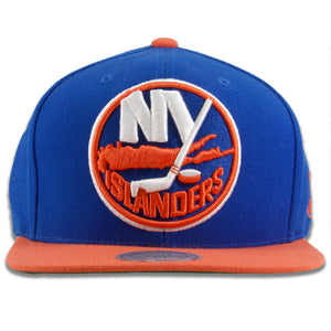 New York Islanders Two-Tone Blue on Orange Snapback Hat