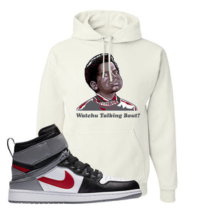 Air Jordan 1 Flyease Hoodie | White, Wachu Talking Bout